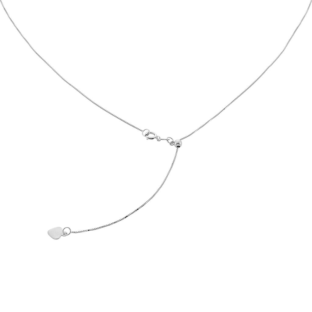 10k Gold Adjustable Box Chain Necklace - 22 in.