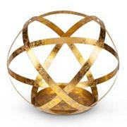 Gold Finish Sphere Large Candle Holder
