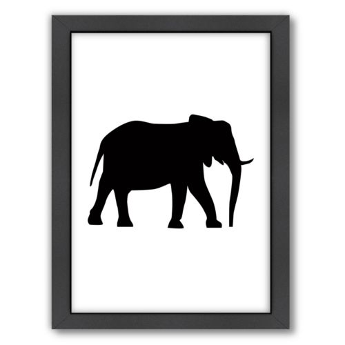 Americanflat Elephant Framed Wall Art