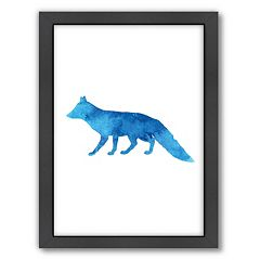 Americanflat Fox Framed Wall Art