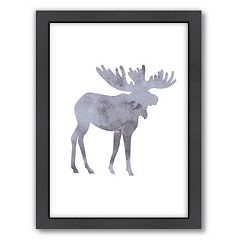 Americanflat Moose Framed Wall Art