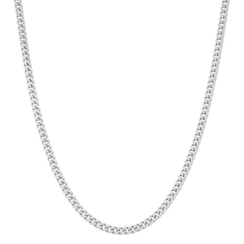 Sterling Silver Adjustable Curb Chain Necklace