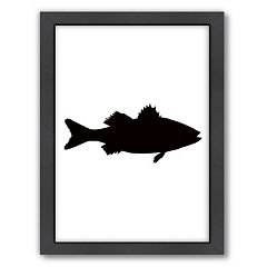 Americanflat Sea Bass Framed Wall Art