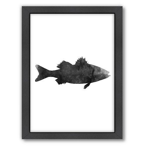 Americanflat Sea Bass Framed Wall Art