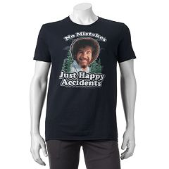 Men's Bob Ross 'No Mistakes, Just Happy Accidents' Tee