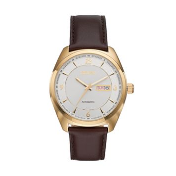 Seiko Men's Recraft Leather Automatic Watch - SNKN70