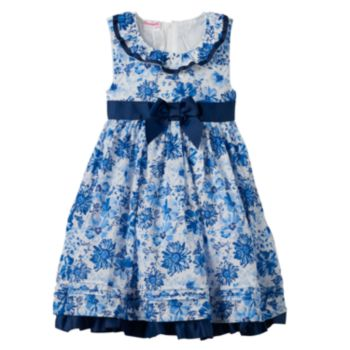 Girls 4-6x Nannette Floral Butterfly Ruffle Dress