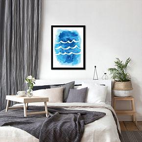 Americanflat Waves Framed Wall Art