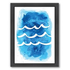 Americanflat Waves Framed Wall Art