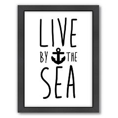 Americanflat 'Live By The Sea' Framed Wall Art