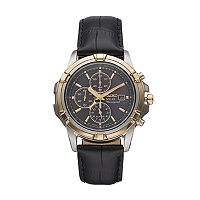 Seiko Men's Leather Solar Chronograph Watch - SSC456