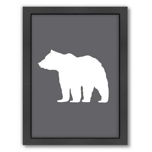Americanflat Bear Framed Wall Art
