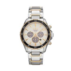 Seiko Men's Core Two Tone Stainless Steel Solar Chronograph Watch - SSC446
