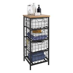 Linon Grid Metal Storage Cabinet