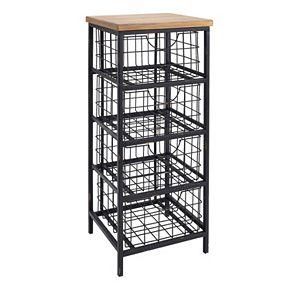 Linon Grid Metal Storage Cabinet
