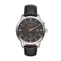 Seiko Men's Core Leather Kinetic Watch - SUN063