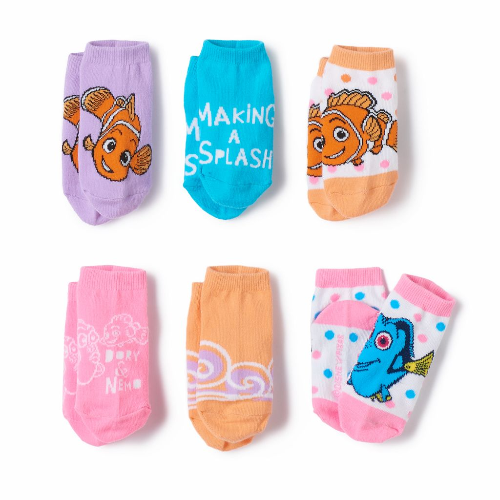 Disney / Pixar Finding Nemo Toddler Girl 6-pk. Socks