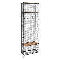 Linon Grid Metal Entryway Coat Rack