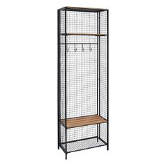 Linon Grid Metal Entryway Coat Rack