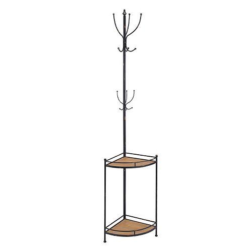Linon 2-Shelf Corner Coat Rack