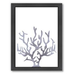Americanflat Coral Framed Wall Art