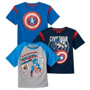 Toddler Boy 3 pkMarvel Captain America: Civil War Tees