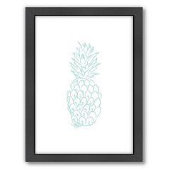 Americanflat Pineapple Framed Wall Art