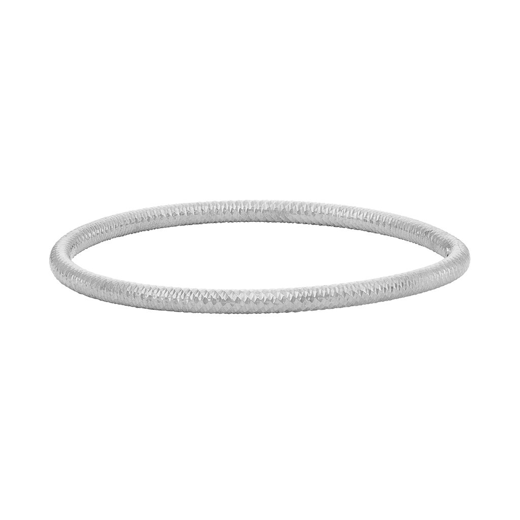 Sterling Silver Textured Bangle Bracelet