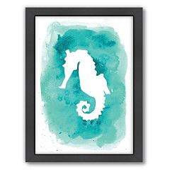 Americanflat Seahorse Framed Wall Art