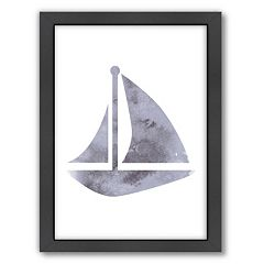 Americanflat Bright Sailboat Framed Wall Art