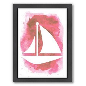 Americanflat Bright Sailboat Framed Wall Art