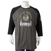 Big & Tall Majestic Milwaukee Bucks Raglan Tee