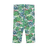 Toddler Girl Burt's Bees Baby Organic Floral Capri Leggings