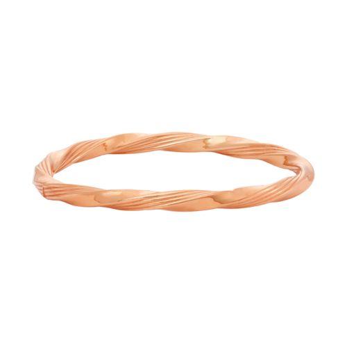 14k Gold Over Silver Twist Bangle Bracelet