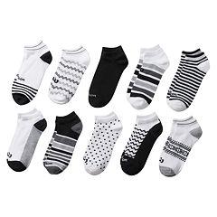 Women's Wilson 10 pkStriped & Geometric No-Show Socks