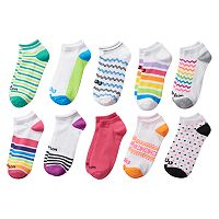 Women's Wilson 10-pk. Striped & Geometric No-Show Socks