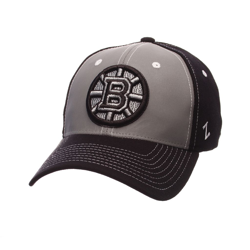 Adult Zephyr Boston Bruins Night Game Stretch-Fit Cap
