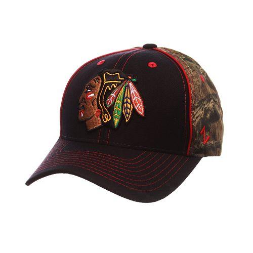 Adult Chicago Blackhawks Hideaway Adjustable Cap