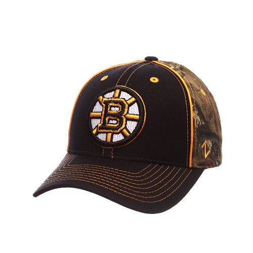 Adult Boston Bruins Hideaway Adjustable Cap