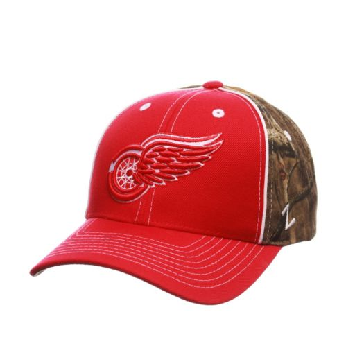Adult Detroit Red Wings Hideaway Adjustable Cap