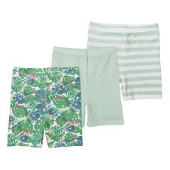 Girls 4-6x Burt's Bees Baby 3 pkOrganic Bike Shorts Set