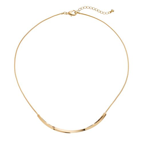Twisted Curved Bar Necklace
