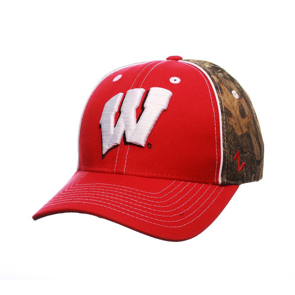 6045e2289d8 Adult Zephyr Wisconsin Badgers Hideaway Snapback Cap