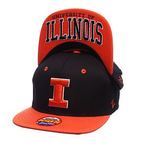 separation shoes 6177d 4af7b ... denmark adult top of the world illinois fighting illini flat bill cap  eb28b a5e55
