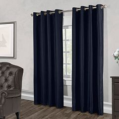 Exclusive Home 2-pack Chatra Faux Silk Grommet Top Window Curtains