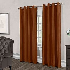 Exclusive Home 2-pack Chatra Faux Silk Window Curtains - 54'' x 96''
