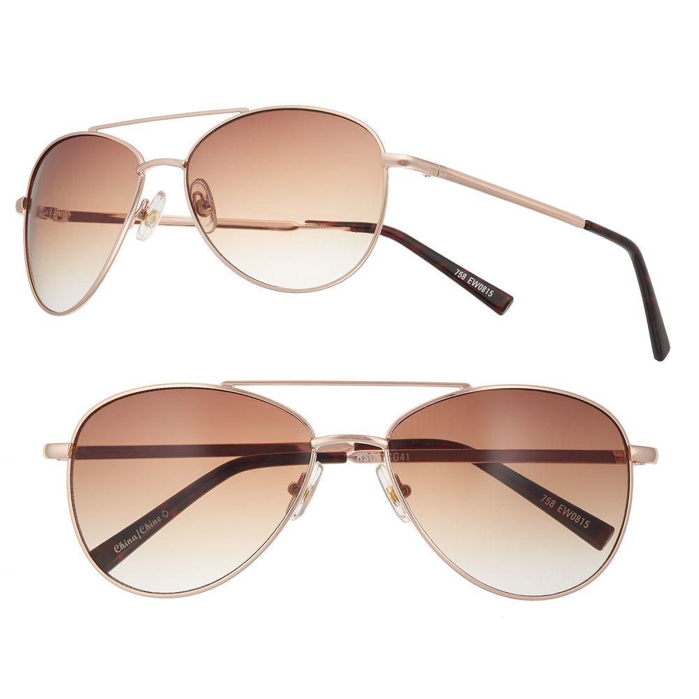Women's SO® Gradient Aviator Sunglasses