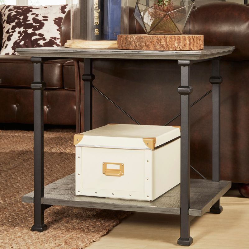 HomeVance Derry End Table, Grey