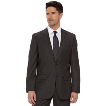 Men's Apt. 9 Slim-Fit Gray Herringbone Suit Jacket