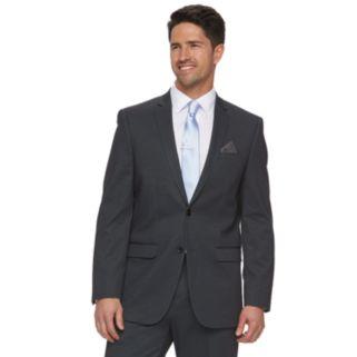 Men's Apt. 9® Knit Slim-Fit Gray Pindot Suit Jacket